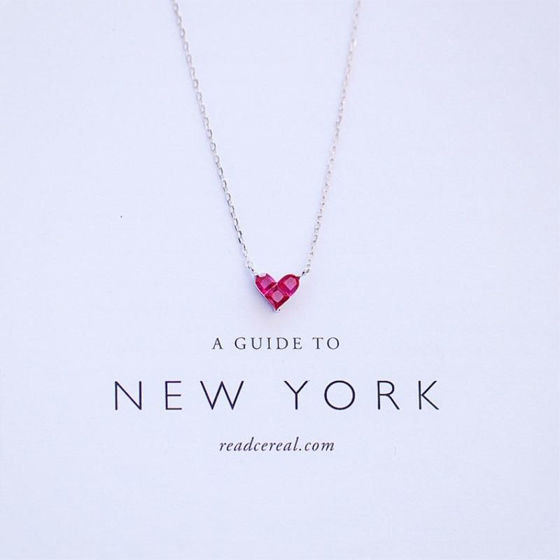 aliexpress.com - Cute Mini Heart Short Clavicle Chain 925 Sterling Silver Temperament Personality Fashion Female Necklace SNE056