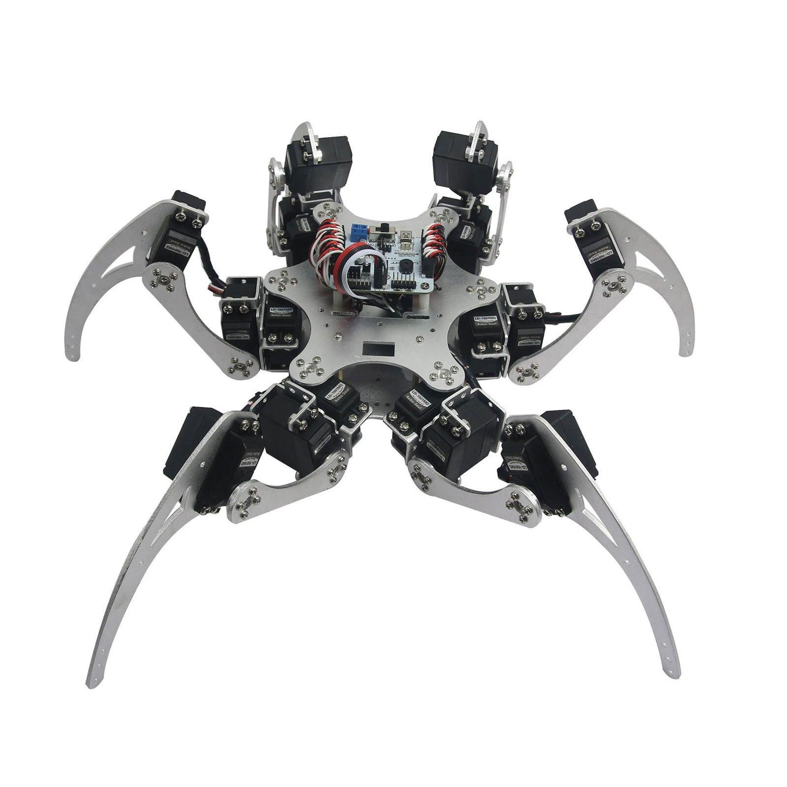 Kit de cadre Robot en Aluminium hexapode araignée Six 3DOF jambes avec roulements pour Arduino bricolage
