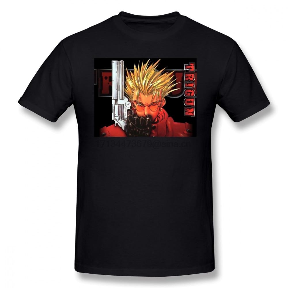 Trigun camiseta TRIGUN Camiseta de manga corta de algodón camiseta 4xl moda imprimir hombres camisa divertida