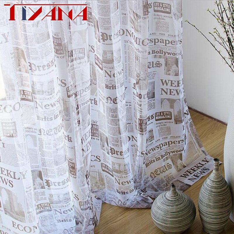 Винтажная вуаль для газет, занавески для гостиной, классический стиль, украшения окна, тюль, занавески для спальни WP227 & 30