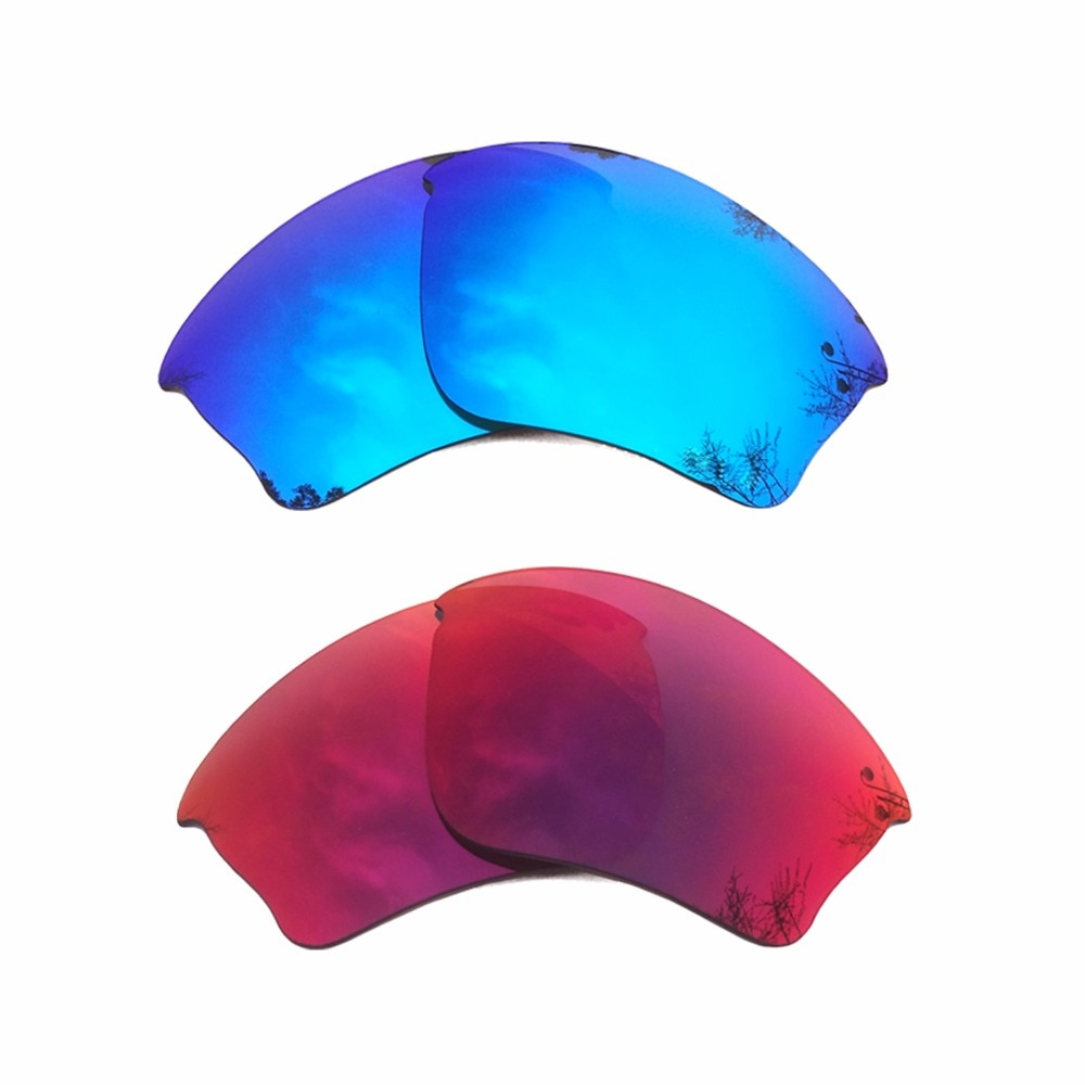 Ice Blue Mirrored & Midnight Sun Mirrored Polarized Replacement Lenses for Half Jacket XLJ Frame 100