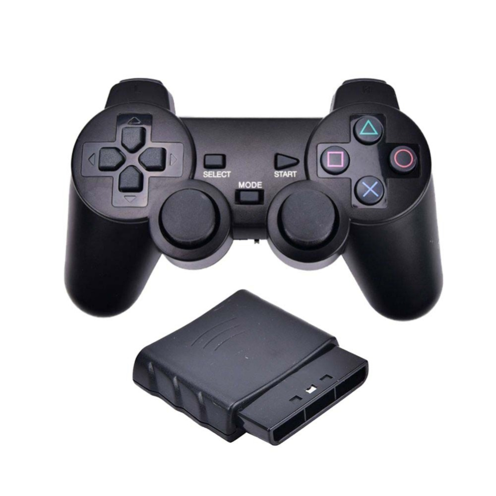 Wireless Gamepad Vibrator 2.4GHz USB Game Controller Bluetooth Gamepad Joystick For PS2 For Sony Playstation 2 wired gamepads for sony ps2 controller for mando ps2 ps2 joystick for plasystation 2 double vibration shock joypad геймпад game