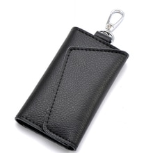 Genuine Leather Keychain Men Women Key Holder Organizer Pouch Cow Split Car Key Wallet Housekeeper K