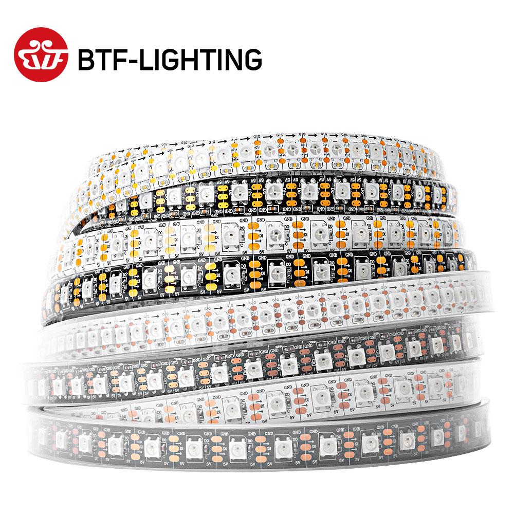WS2812B RGB Led Strip Light 1m 2m 4m 5m Addressable Individually WS2812 30 60 74 96 100 144 LEDs Mag