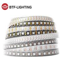 Светодиодная лента WS2812B RGB, индивидуальное управление светодиодами WS2812, 30, 60, 74, 96, 100, 144, 5 В, 1 м, 2 м, 4 м, 5 м, чёрно-белые печатные платы