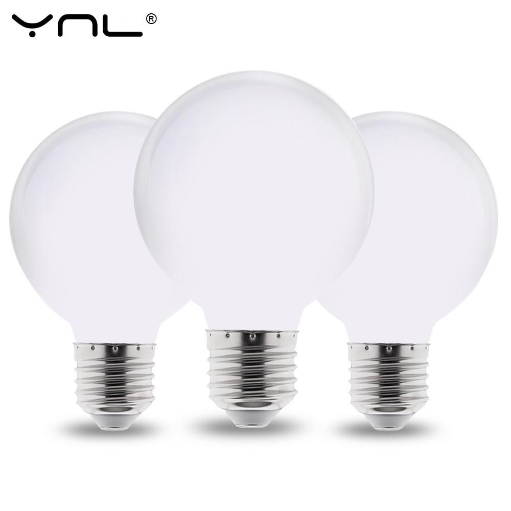 Bombilla LED lechosa E27 220V 110V 85-265V lámpara LED G80 G95 G125 ampolla bombilla LED Fría/blanca cálida para araña