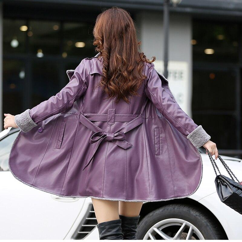 New Fashion 2018 Winter Women' Leather fur jacket Single-breasted slim fur coat faux sheepskin jaqueta feminina jaqueta de couro enlarge