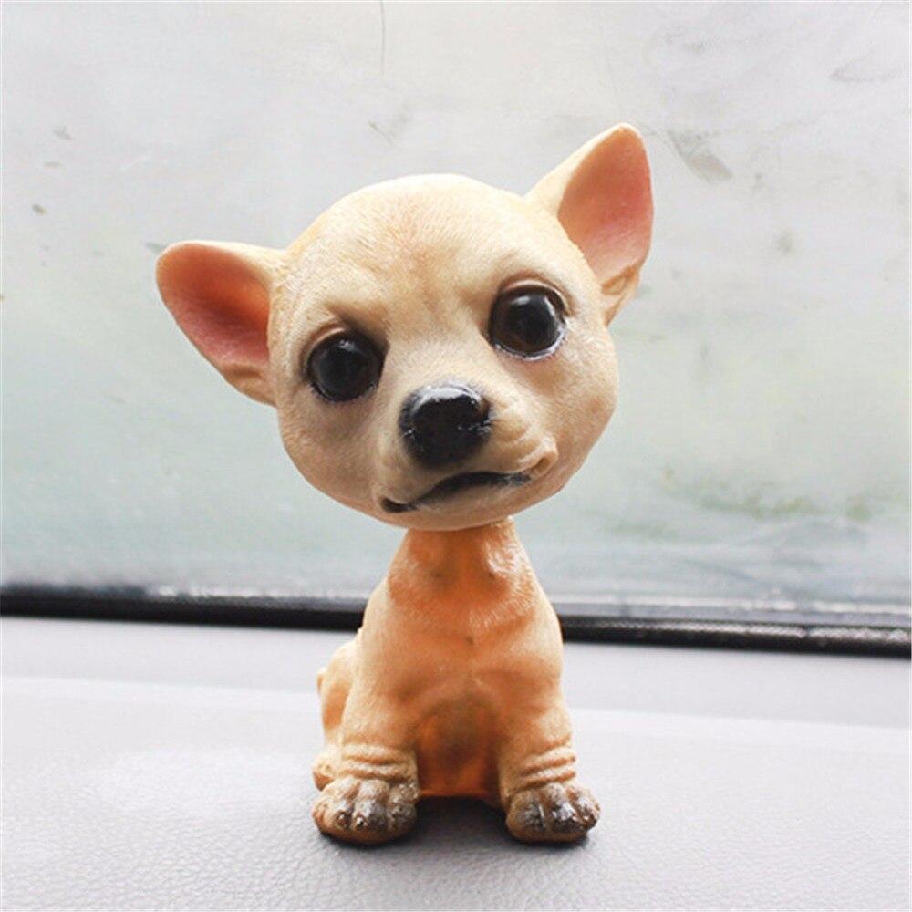 Perro de resina Natural para decoración Interior de coche, regalo para el hogar