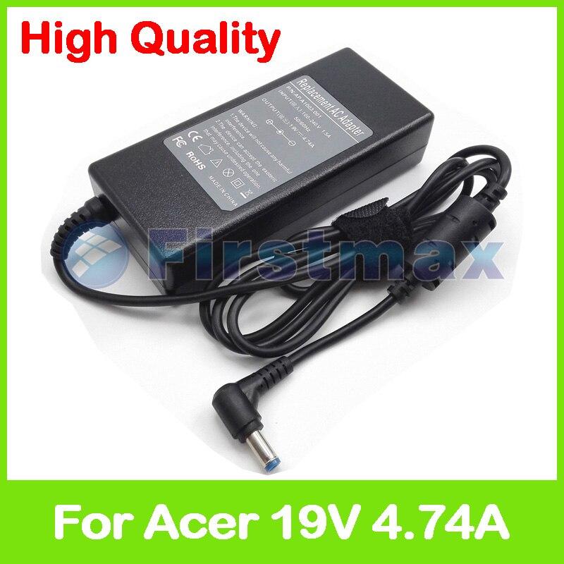 Adaptador de corriente CA para ordenador portátil 19 V 4.74A 90 W para Acer Aspire 5552Z 5553G 5560G 5560 T 5560ZG 5561, 5562, 5563, 5564 5570Z 5571Z