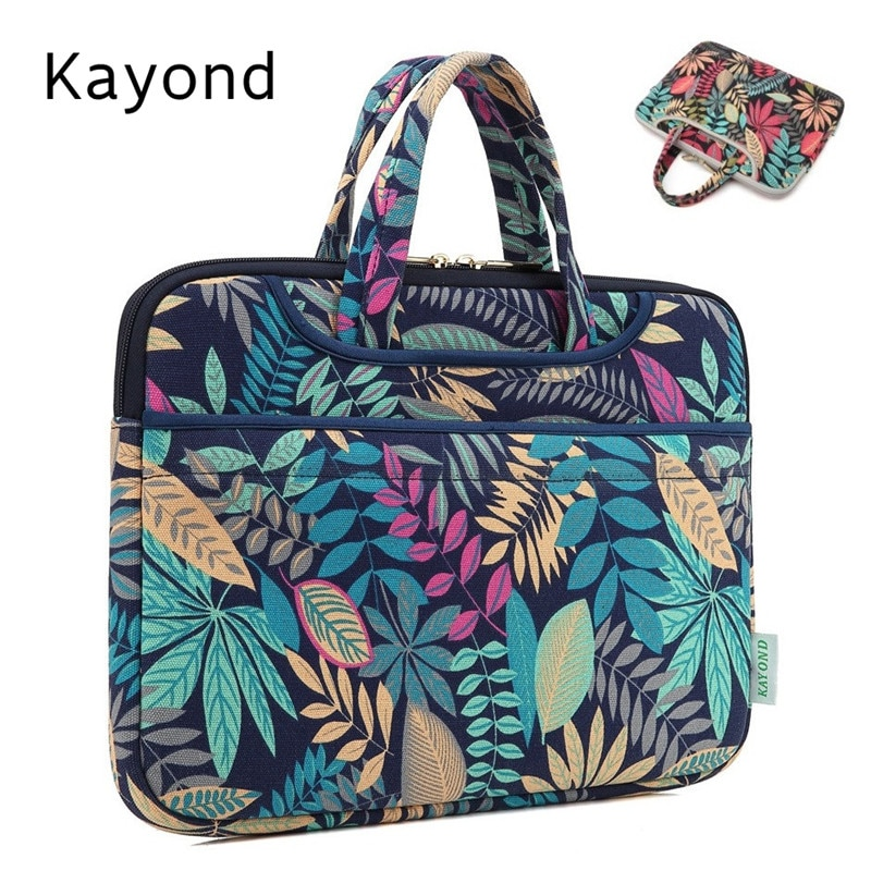 العلامة التجارية Kayond حقيبة يد حقيبة كمبيوتر محمول 12,13 ، 14,15 ، 15.6 بوصة ، صدمات سيدة كم كيس كيس لماك بوك اير برو الكمبيوتر المحمول دروبشيب.
