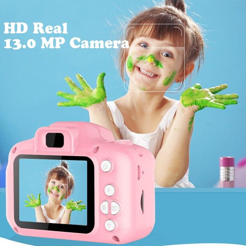 13.0MP recargable niños Mini cámara Digital 2,0 pulgadas HD pantalla grabadora de vídeo videocámara cambio de idioma disparo temporizado