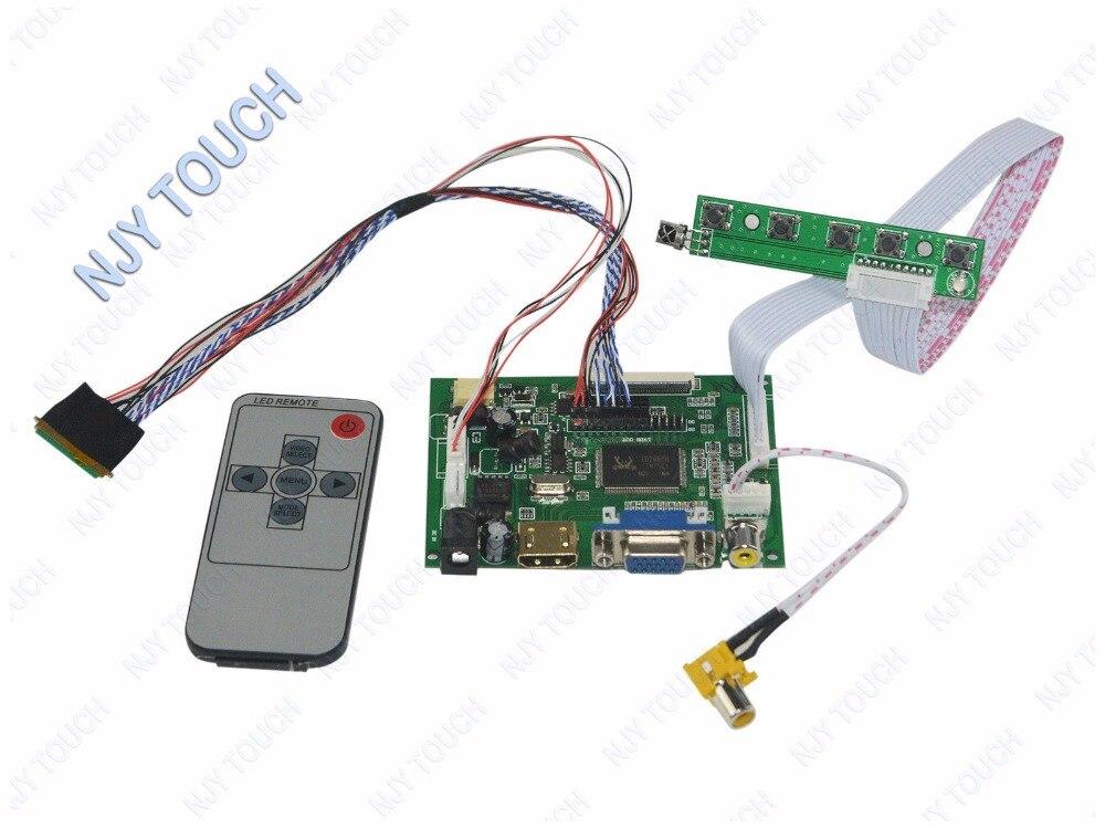 "HDMI VGA AV control remoto controlador LCD Junta ki para 10,1 ""N101BGE-L31 pantalla LED LCD TFT 1366x768 envío gratis"