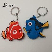 Anime Finding Nemo Dory Marlin Sleutelhanger Vis Leuke Persoonlijkheid Cos Pvc Speelgoed Cartoon Blauwe Souvenir Mode Llaveros Sleutelhanger 2018