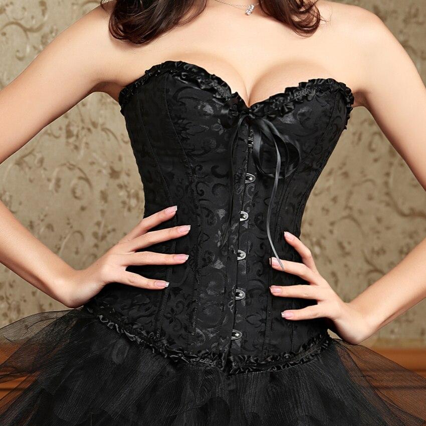 6XL Sexy Plus größe Frau mieder steampunk taille trainer korsetts Korsett lacy Overbust schwarz weiß rot shapers körper dessous
