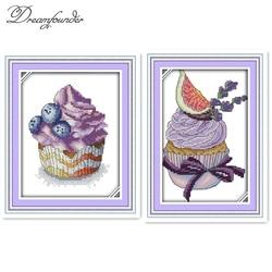 Blueberry bolo animal kit cross stitch 11ct 14ct 18ct contagem imprimir costura bordado DIY handmade needlework plus