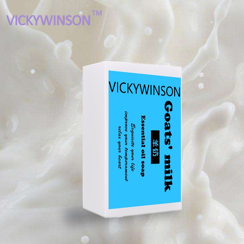 VICKYWINSON Goat's Milk Essential Oil Handmade Soap Skin Moisturizing Facial Soap Facial Cleansing Body Beauty Healthy Care 50 new yi xiangyuan essential oil of lavender moisturizing and lubricating five parts of deep cleansing pores set for facial care