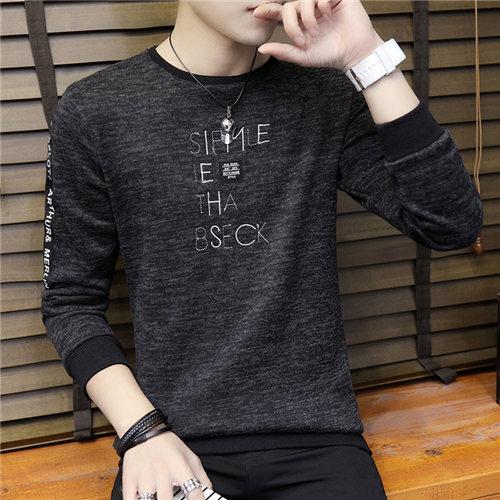 Camisetas de manga larga con cuello redondo de otoño 2019 para hombre
