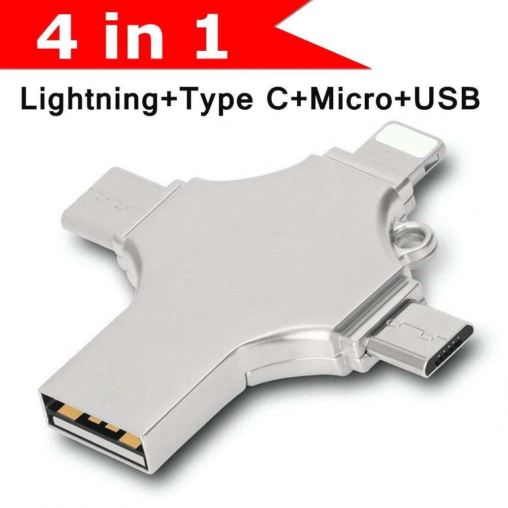 YXL  4 in 1 design Usb Flash Drive 256GB 128GB Usb Stick 3.0 OTG Pen Drive 16GB 32GB 64GB cle Usb 3.0 Flash Disk Pendrive