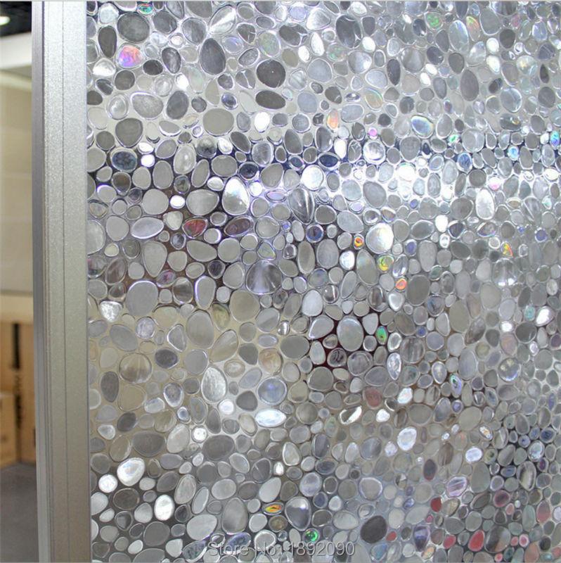 60*200cm/lot No Glue Static Cling Window Film Decorative Opaque Glass Stickers 3D Laser Stone ST104