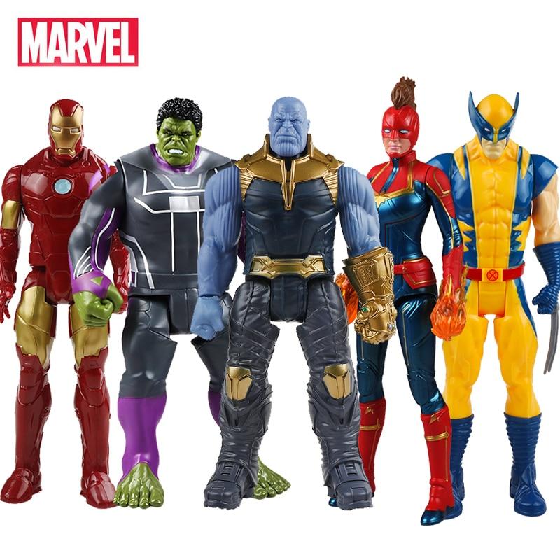 30cm Marvel Avengers Toys Thanos Hulk Buster Iron Man Captain America Thor Wolverine Black Panther Action Figure Dolls