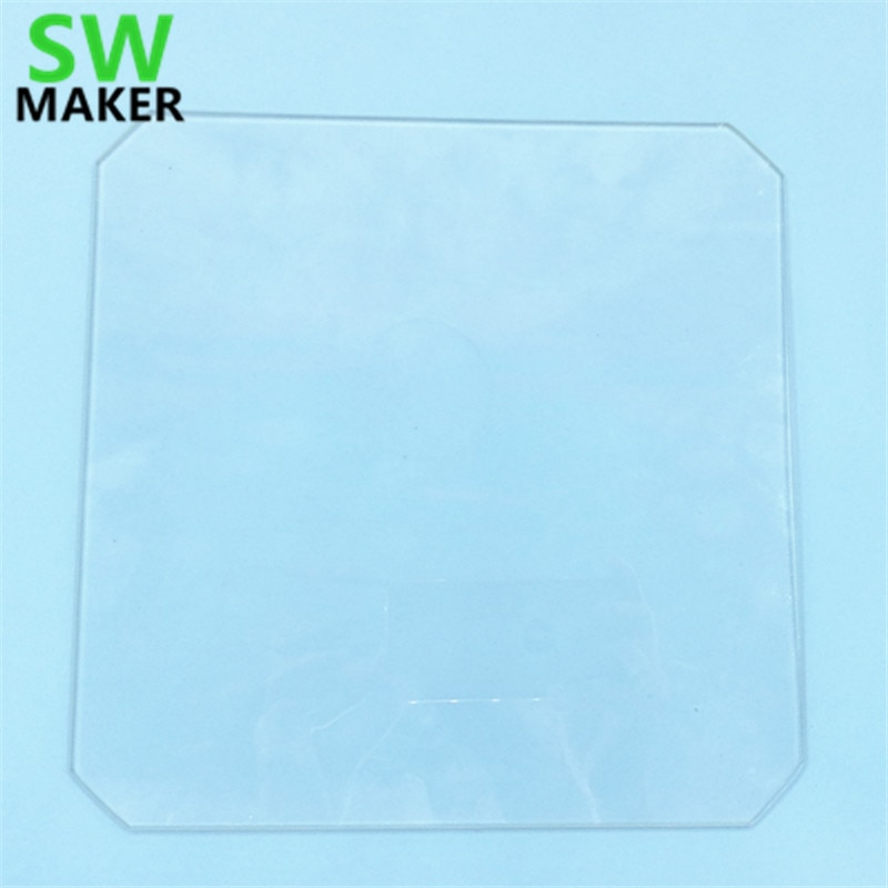 SWMAKER 219x219x3mm 220x220x4mm de vidrio de borosilicato de w/esquina para Wanhao duplicador i3 Anet A8 MP fabricante seleccionar 3D impresora