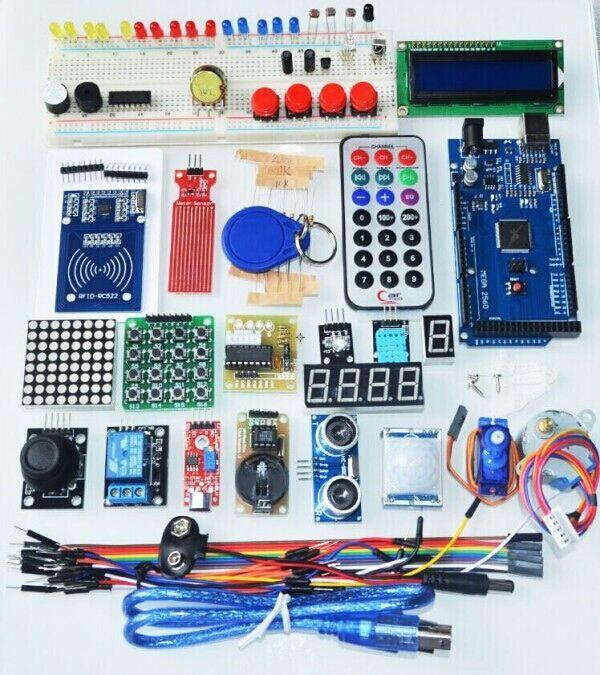SUQ MEGA2560 R3 starter kit, SUQ MEGA2560 R3 بداية عدة محرك سيرفو RFID بالموجات فوق الصوتية نطاق التتابع LCD لاردوينو