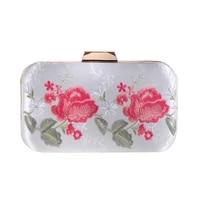 floral embroidery rose evening bag female dress handbag mini casual flowers clutches flap bag new new fashion lady shoulder bag