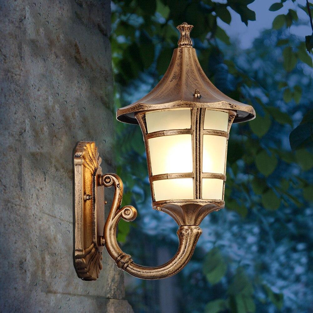Door waterproofing wall lamp outdoor European-style antique balcony wall lamp outdoor simple courtyard corridor lamp LU809110
