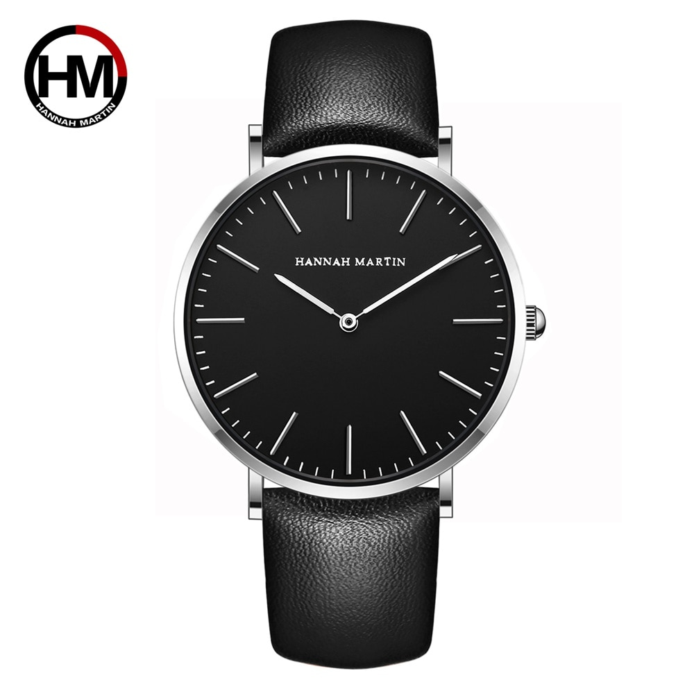Nuevo reloj de pulsera de cuarzo japonés para hombre, relojes de marca de lujo informales resistentes al agua de cuero genuino, reloj masculino