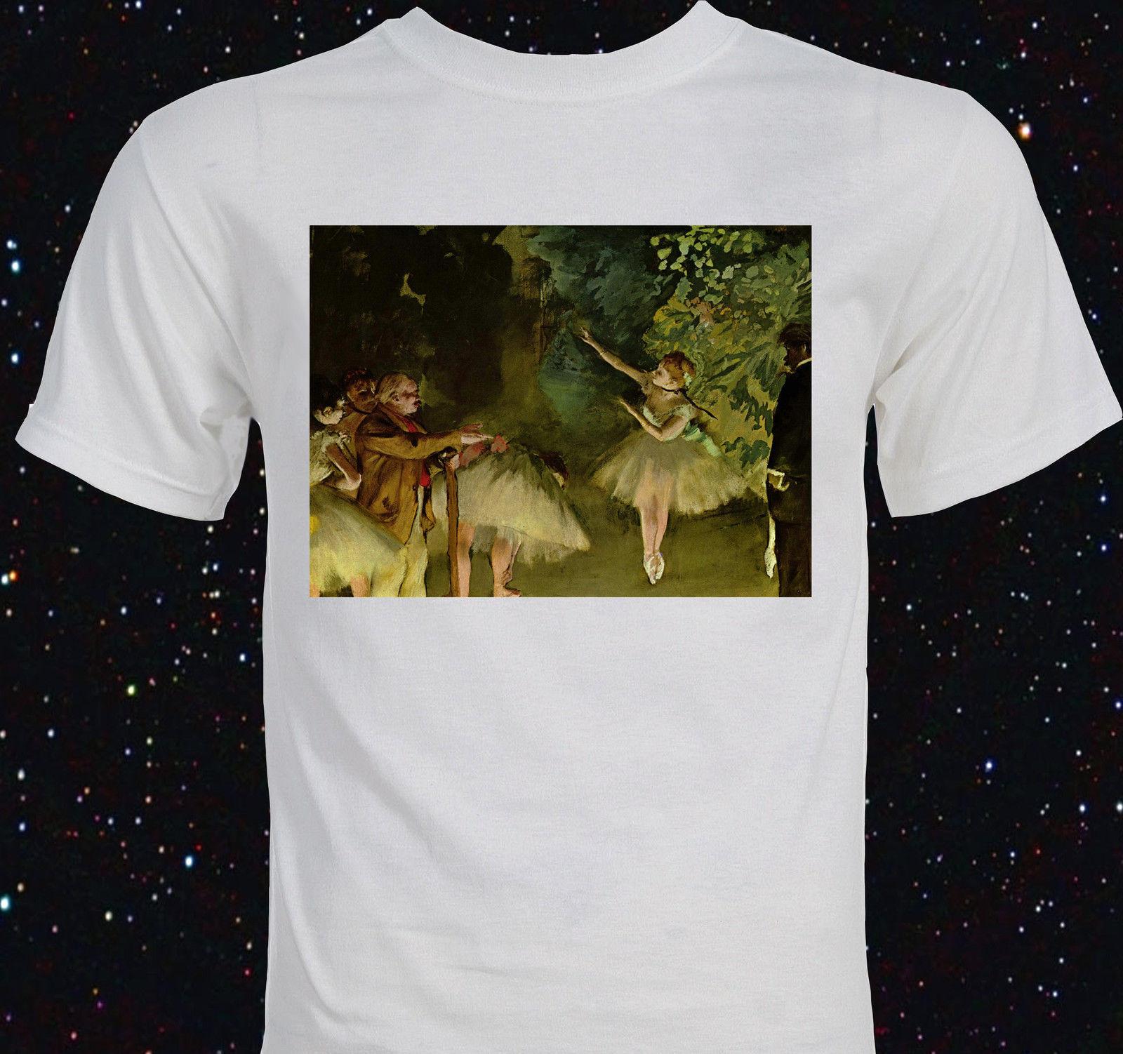 2019 mode rétro été hommes imprimé T-Shirt Edgar Degas-
