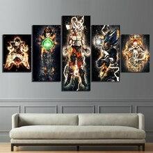 Leinwand Malerei Bilder 5 Stück Dragon Ball Animation Wand Kunstdrucke Moderne Modulare Poster Für Wohnzimmer Dekoration
