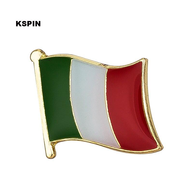 Italie drapeau épinglette Badges sur une broche broche bijoux Rozetten Papier KS-0206