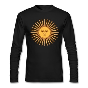 Sun Tee Shirts Making Men Band Tops Spring Mens Country T Shirts Vintage Style Argentina Pre-cotton 100% Cotton Long Sleeve Full