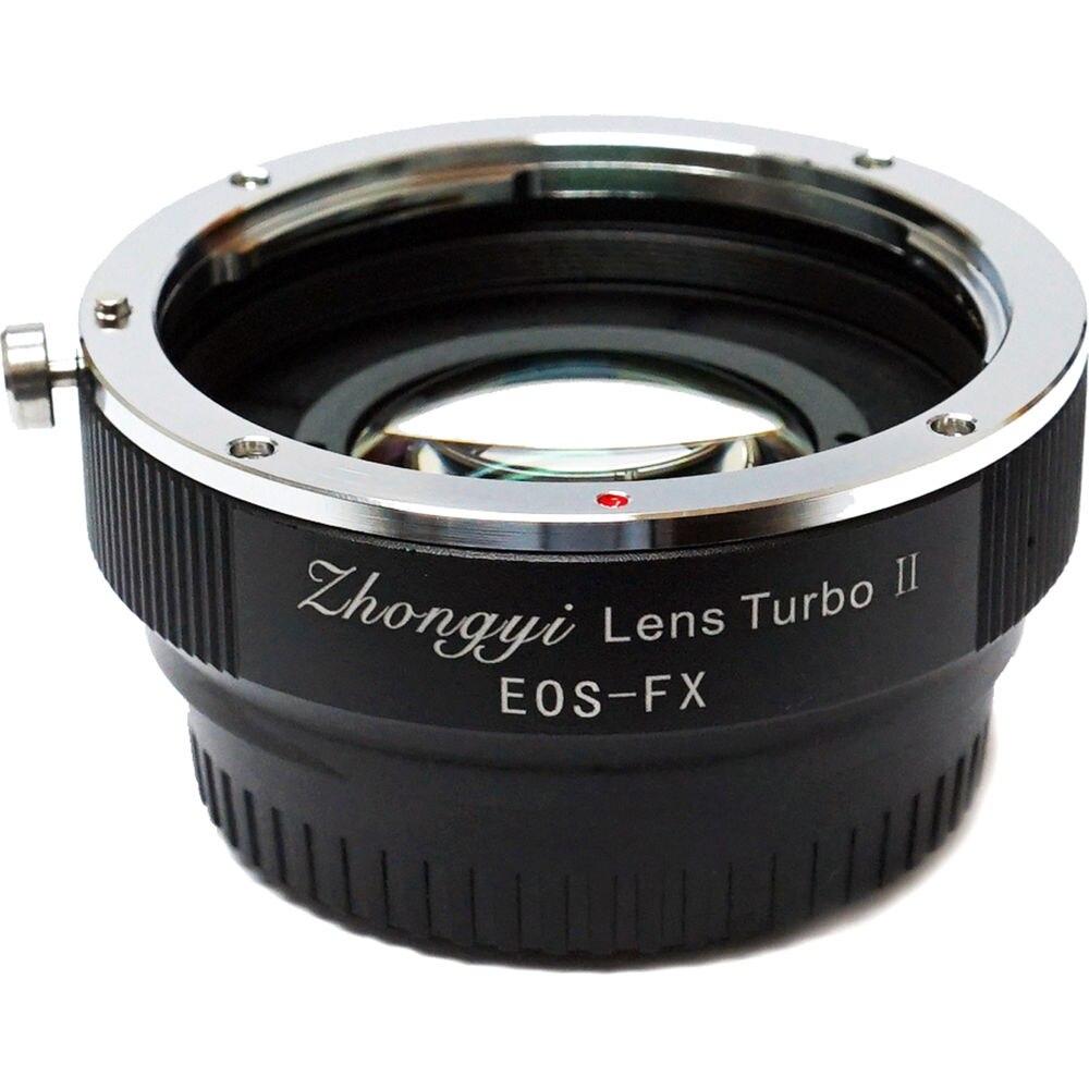Mitakon Zhongyi lente Turbo II Reductor Focal adaptador de aumento de velocidad para Canon montura EF lente a Fujifilm X montaje Cámara X Pro2 T2
