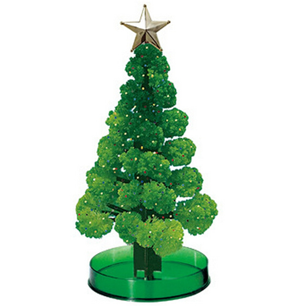 2019 170mm H Green DIY Visual Magic Growing Paper Crystals Tree Magically Funny Christmas Trees Kids Novelty Toys For Children