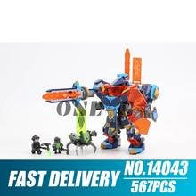 Building blocks 14043 nexo knights 72004 Bricks Tech Wizard Showdown figures Educational toys for children