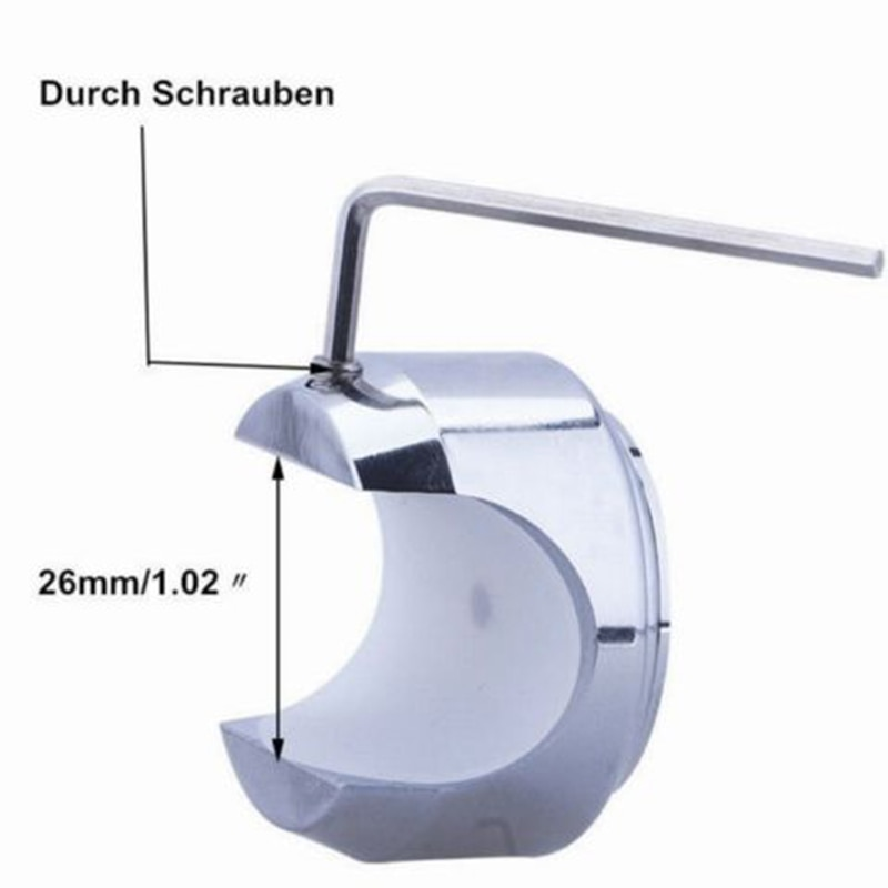 "7/8  ""/1 "" reloj para moto herramienta de Dial a prueba de agua 4,5*3,2 cm manillar a prueba de golpes aleación de aluminio Temp"