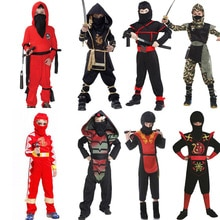 Panno Cosplay Costume per Bambini Misterioso Ninja Outfit Ragazzi Samurai Vestito Della Ragazza Splendida Samurai Costumi Guerriero Notturna Garmen