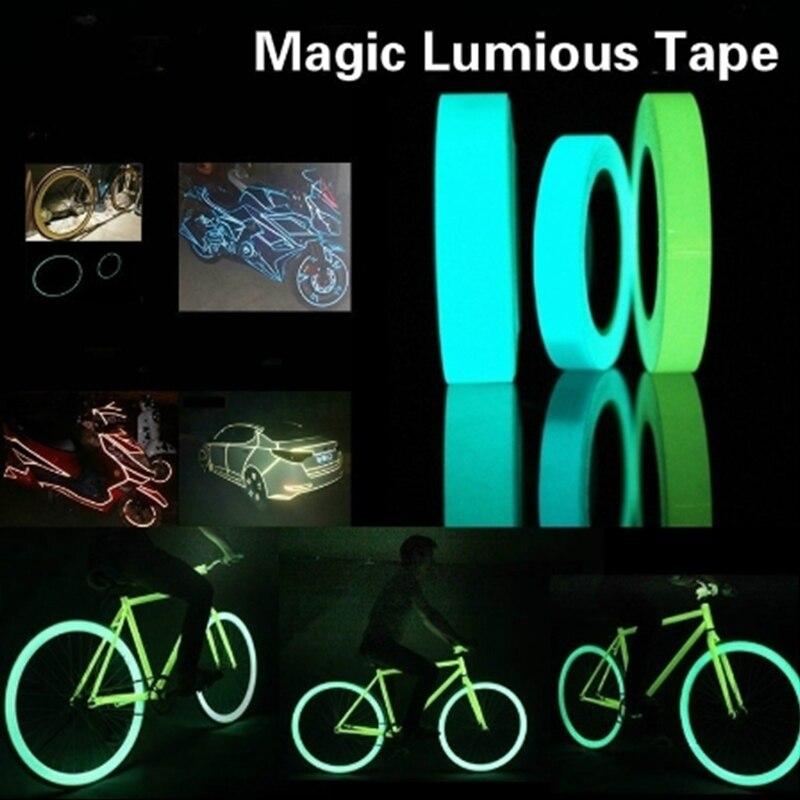 1.5cmX1m pegatinas reflectantes para coche de mascota cinta luminosa llanta de rueda para bicicleta de motocicleta decoración calcomanía advertencia de seguridad estilo de coche