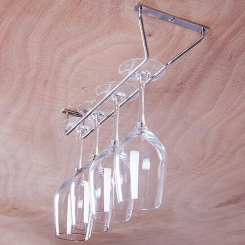 Estante para copa de vino de acero inoxidable soporte de copas y vasos colgador estante para casa Bar de acero inoxidable copa de champán