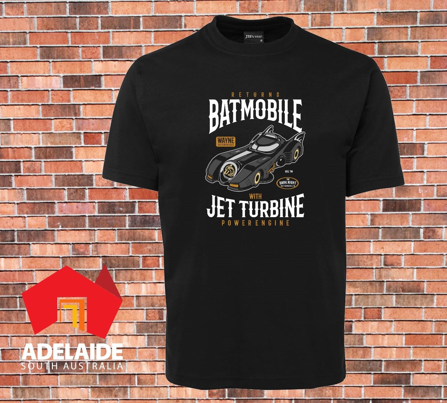 2019 moda Cool negro camiseta Batmobile Returns Dark Knight Batman nuevo diseño camiseta