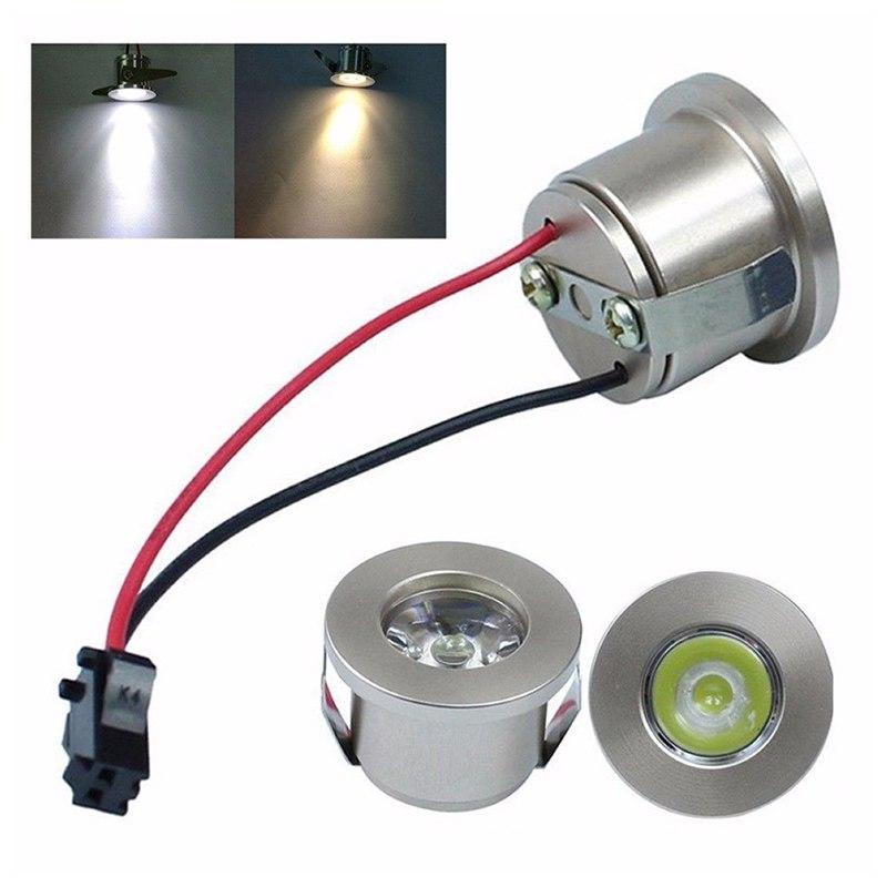 New 1W /3W LED White/Warm White AC 85-265V Mini Surface Mounted Light Led Downlight Jewelry Cabinet Lamp Spotlight