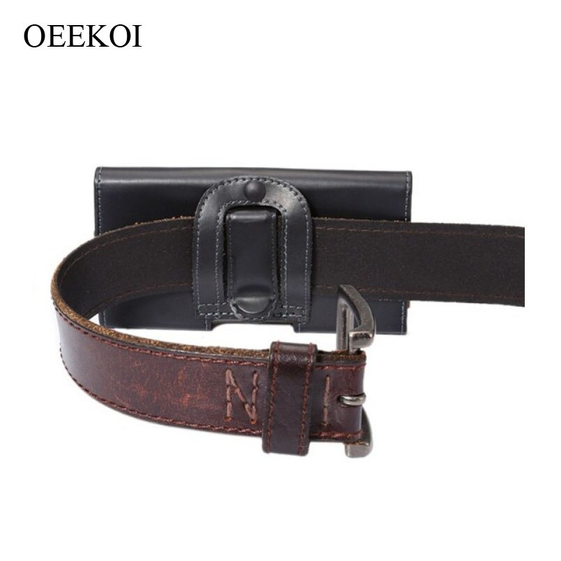 Oekoi cinturón Clip PU cuero cintura soporte funda plegable con bolsillo para Sharp Android One S5/Aquos Sense2/D10/Sense Plus/X4/E-P1/Pi