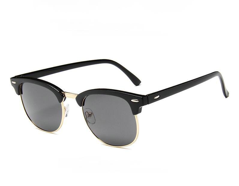 Female Cat Eye Sun Glasses Women Semi-Rimless Popular Brand Designer Sunglasses Retro Goggles Cateye