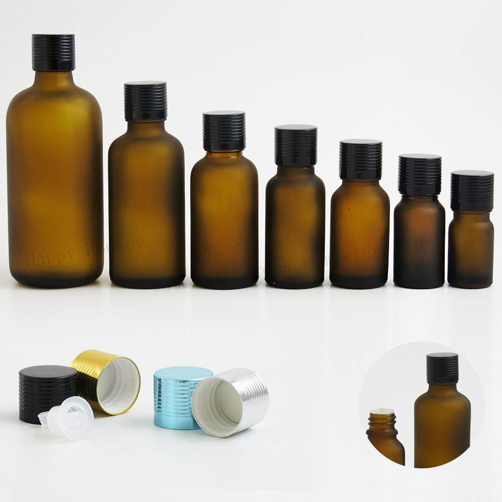 360 قطعة/الوحدة متجمد البني الضروري النفط زجاجة مع كاب 5 مللي 10 مللي 15 مللي 20 مللي 30 مللي 50 مللي 100 مللي ماتي العنبر التجميل زجاجة