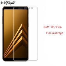 2pcs Full Cover Screen Protector Film sFor Samsung Galaxy A8 2018 Soft TPU Film For Samsung A8 2018 Anti Burst Soft Film A830