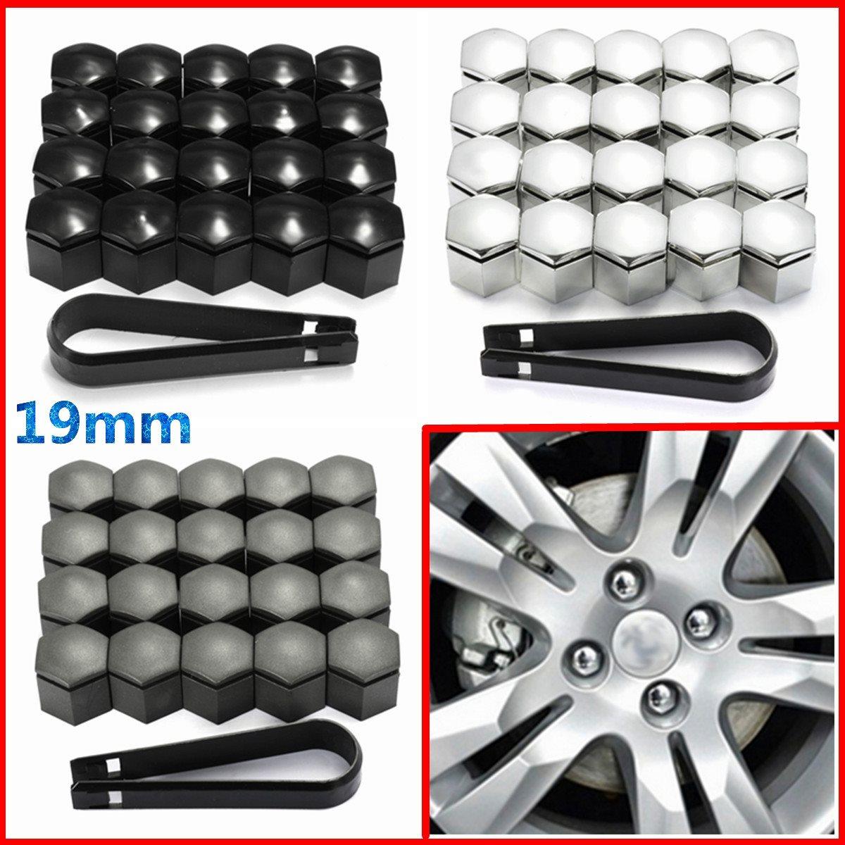 20 piezas, 19mm, cubierta de tuerca de rueda, Protector de tapa de perno para llave de herramienta Vauxhall Opel Romove