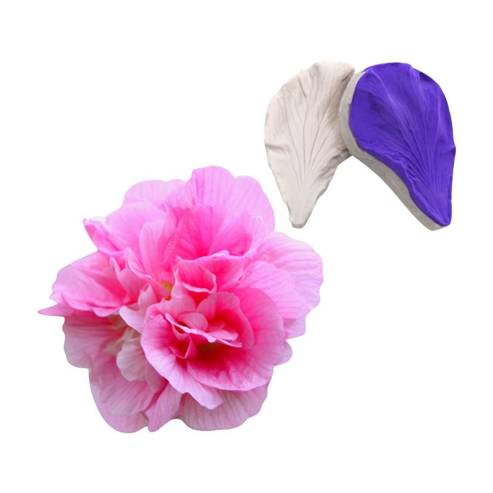 2 unids/set 3DPenoy Flor de silicona pétalo molde Fondant moldes orquídea pétalo Veiners accesorios de cocina, molde torta decoración herramientas