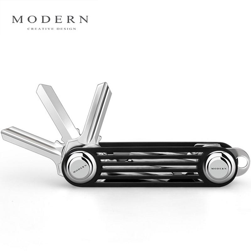 Современный брендовый Новый 2017 алюминиевый кошелек для смарт-ключа, органайзер для ключей, держатель для ключей DIY, брелок для повседневног...