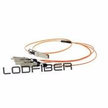 1m (3ft) Fortinet FG-TRAN-QSFP-4XSFP-1 Compatible 40G QSFP + à 4x10G SFP + câble à fibers optiques actif